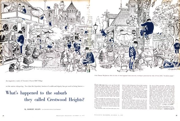Article Preview: What's happened to the suburb they called Crestwood Heights?, October 1957 | Maclean's