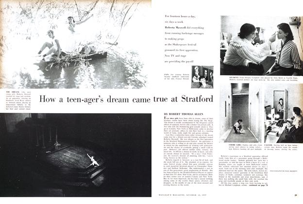 Article Preview: How a teen-ager's dream came true at Stratford, October 1957 | Maclean's