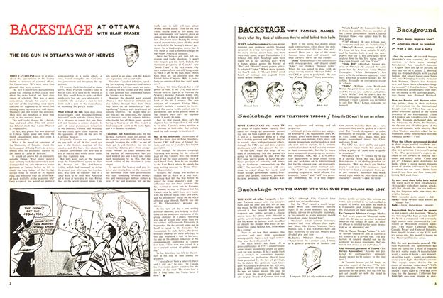 Article Preview: THE BIG GUN IN OTTAWA'S WAR OF NERVES, October 1957 | Maclean's