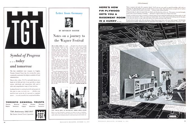 Article Preview: Notes on a journey to the Wagner Festival, October 1957   Maclean's