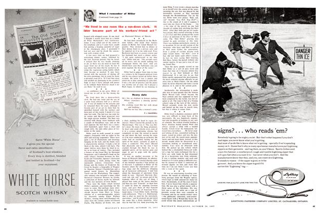 Article Preview: Heavy date, October 1957 | Maclean's