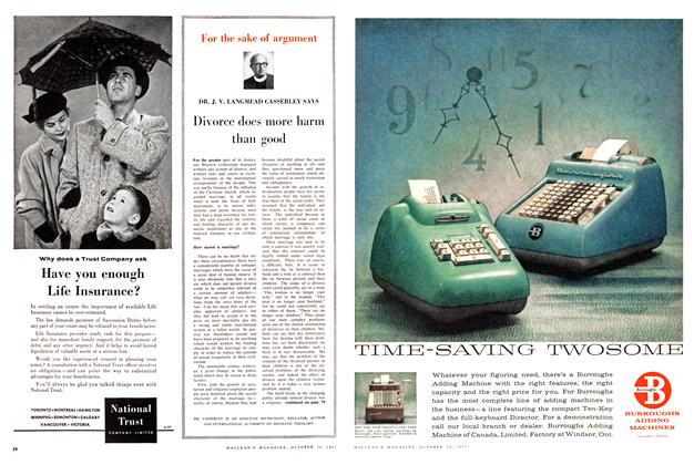 Article Preview: Divorce does more harm than good, October 1957 | Maclean's
