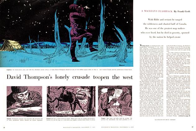 Article Preview: David Thompson's lonely crusade to open the west, November 1957 | Maclean's