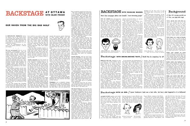 Article Preview: BACKSTAGE WITH LA GIRL, November 1957 | Maclean's