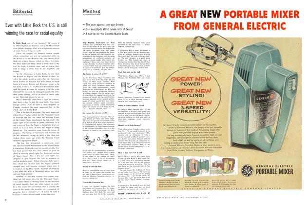 Article Preview: Mailbag, November 1957   Maclean's