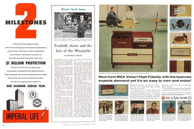 Article Preview: Football, choirs and the lure of the Miramichi, November 1957 | Maclean's