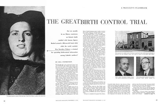 Article Preview: THE GREAT BIRTH CONTROL TRIAL, November 1957 | Maclean's