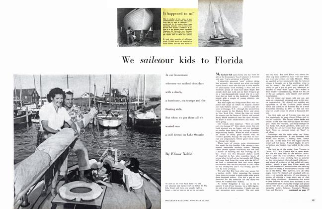 Article Preview: We sailed our kids to Florida, November 1957 | Maclean's