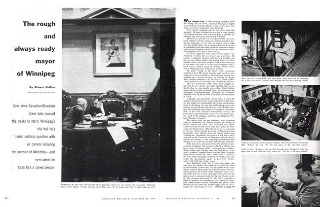 Article Preview: The rough and always ready mayor of Winnipeg, November 1957 | Maclean's