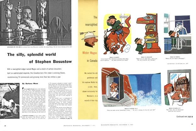 Article Preview: The silly, splendid world of Stephen Bosustow, December 1957 | Maclean's