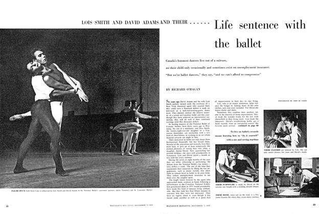 Article Preview: Life sentence with the ballet, December 1957 | Maclean's