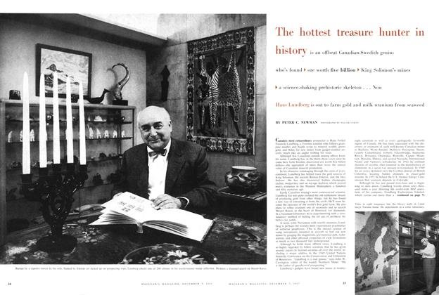 Article Preview: The hottest treasure hunter in history, December 1957 | Maclean's
