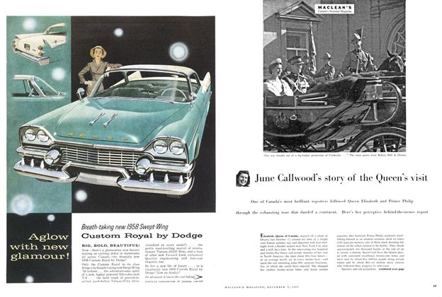 Article Preview: June Call wood's story of the Queen's visit, December 1957 | Maclean's