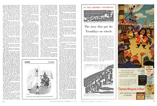 Article Preview: The story that put the Tremblays on wheels, December 1957 | Maclean's