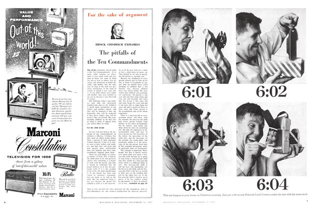 Article Preview: The pitfalls of the Ten Commandments, December 1957 | Maclean's