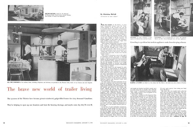 Article Preview: The brave new world of trailer living, January 1958 | Maclean's