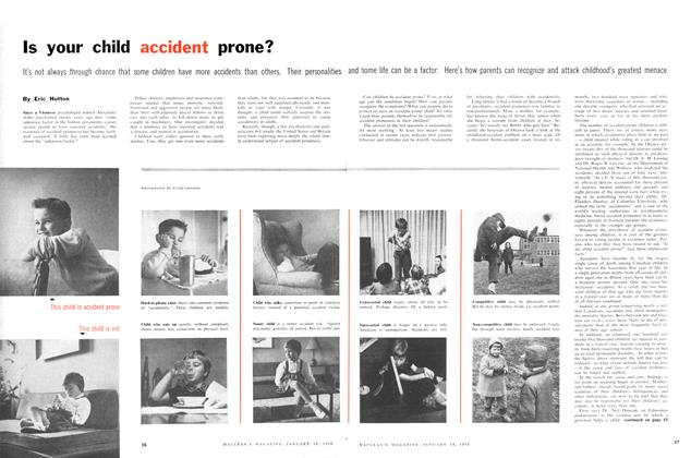 Article Preview: Is your child accident prone?, January 1958 | Maclean's