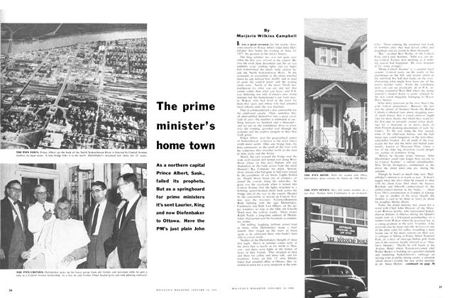 Article Preview: The prime minister's home town, January 1958 | Maclean's