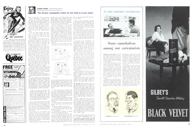 Article Preview: IN THE EDITOR'S CONFIDENCE, January 1958 | Maclean's
