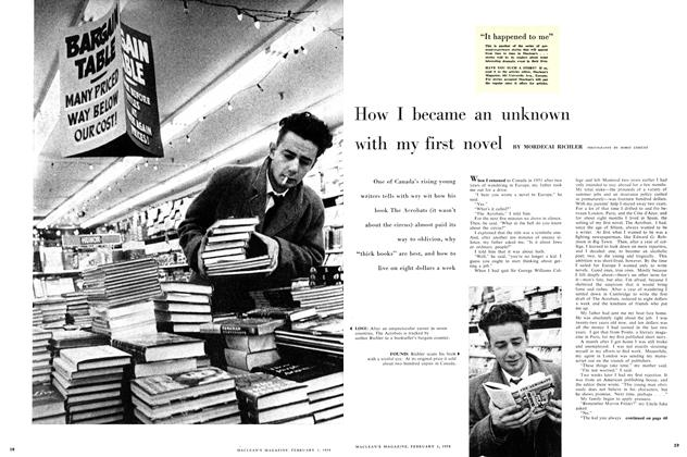 Article Preview: How I became an unknown with my first novel, February 1958 | Maclean's