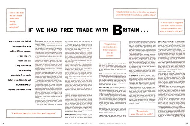 Article Preview: IF WE HAD FREE TRADE WITH BRITAIN, February 1958 | Maclean's