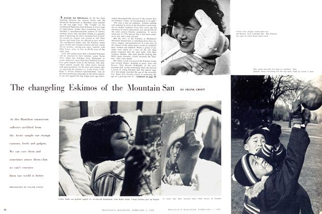 Article Preview: The changeling Eskimos of the Mountain San, February 1958 | Maclean's