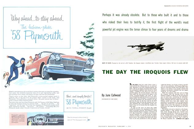 Article Preview: THE DAY THE IROQUOIS FLEW, February 1958 | Maclean's