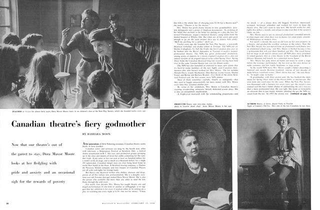 Article Preview: Canadian theatre's fiery godmother, February 1958 | Maclean's