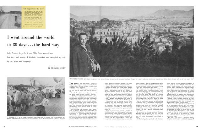 Article Preview: I went around the world in 80 days ... the hard way, February 1958 | Maclean's