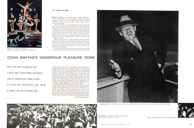 Article Preview: CONN SMYTHE'S WONDROUS PLEASURE DOME, March 1958 | Maclean's