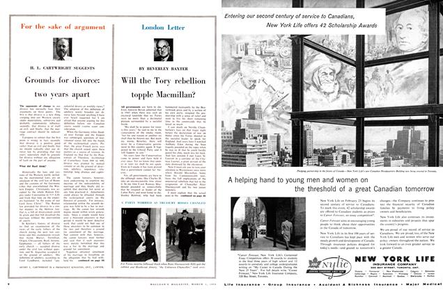 Article Preview: Will the Tory rebellion topple Macmillan?, March 1958 | Maclean's
