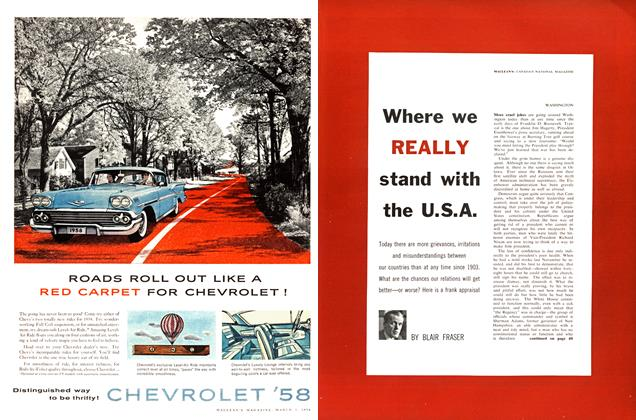 Article Preview: Where we REALLY stand with the U.S.A., March 1958 | Maclean's