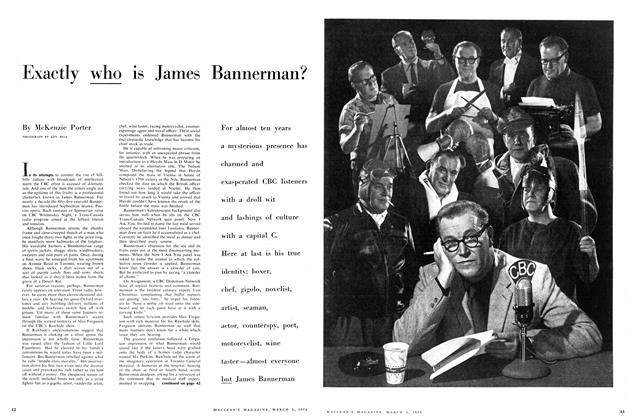 Article Preview: Exactly who is James Bannerman?, March 1958 | Maclean's
