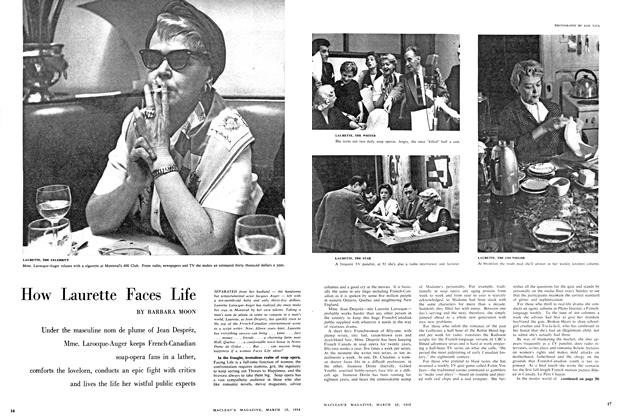 Article Preview: How Laurette Faces Life, March 1958 | Maclean's