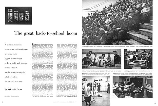 Article Preview: The great back - to - school boom, March 1958 | Maclean's