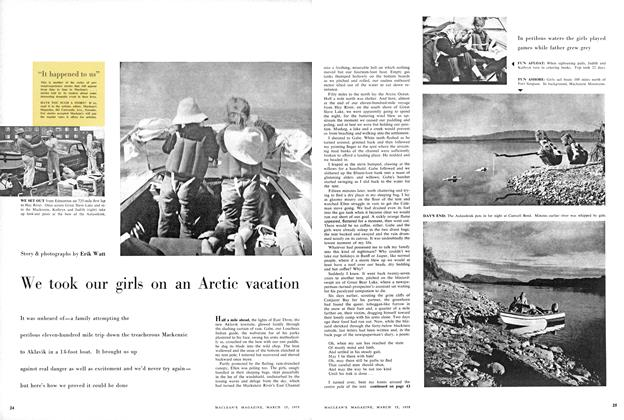 Article Preview: We took our girls on an Arctic vacation, March 1958 | Maclean's