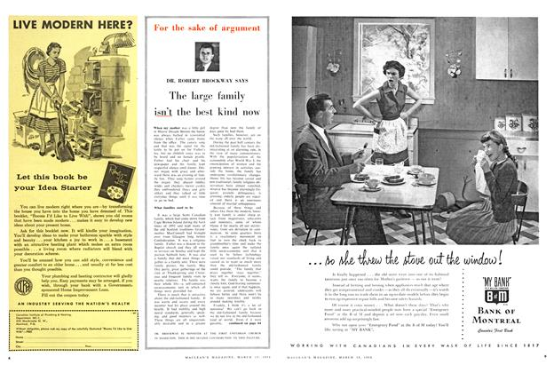 Article Preview: The large family isn't the best kind now, March 1958 | Maclean's