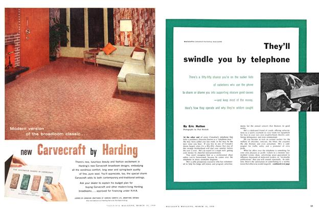 Article Preview: They'll swindle you by telephone, March 1958 | Maclean's