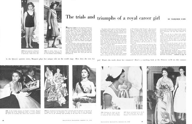 Article Preview: The trials and triumphs of a royal career girl, March 1958 | Maclean's