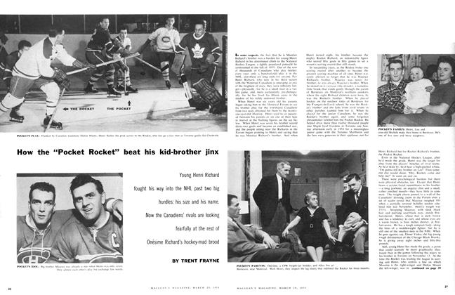 "Article Preview: How the ""Pocket Rocket"" beat his kid-brother jinx, March 1958 