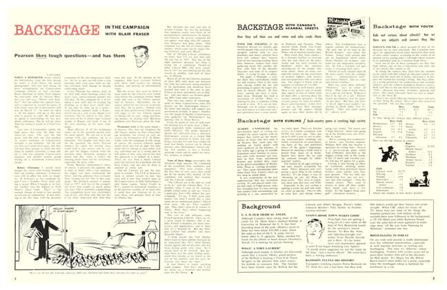 Article Preview: BACKSTAGE WITH CANADA'S SCANDAL SHEETS, March 1958 | Maclean's