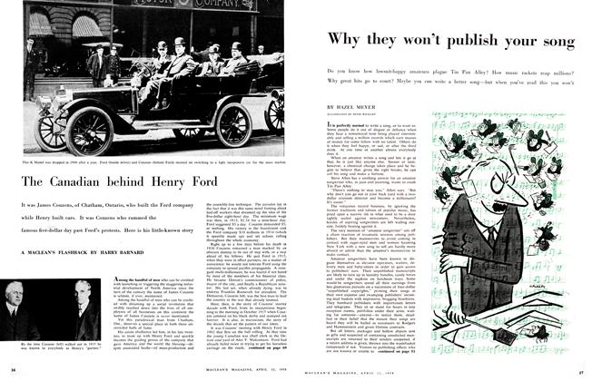 Article Preview: Why they won't publish your song, April 1958 | Maclean's