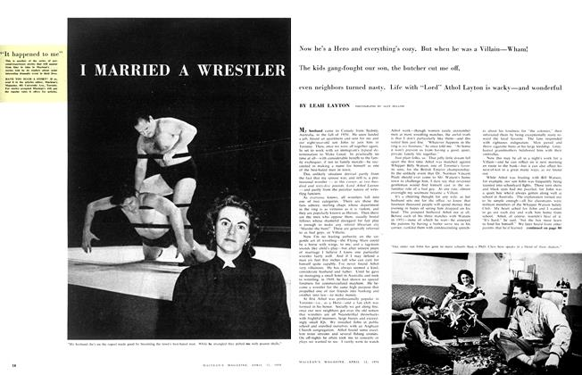 Article Preview: I MARRIED A WRESTLER, April 1958 | Maclean's