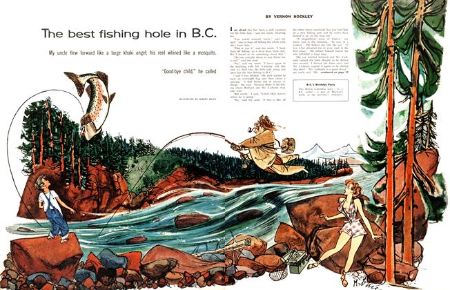 Article Preview: The best fishing hole in B.C., April 1958 | Maclean's