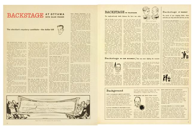 Article Preview: The election's mystery candidate-the dollar bill, April 1958 | Maclean's