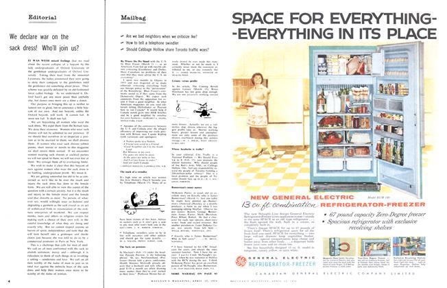 Article Preview: Mailbag, April 1958 | Maclean's