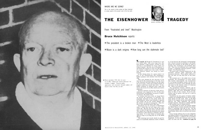 Article Preview: THE EISENHOWER TRAGEDY, April 1958 | Maclean's