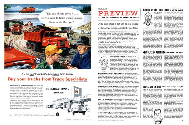 Article Preview: PREVIEW, May 1958 | Maclean's