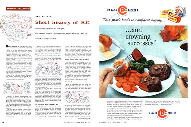 Article Preview: Short history of B.C., May 1958 | Maclean's