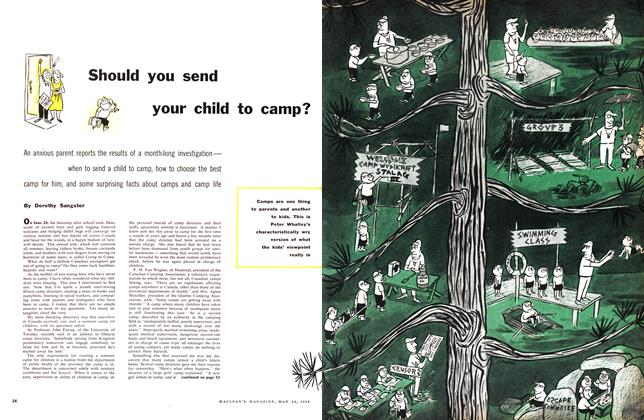 Article Preview: Should you send your child to camp?, May 1958 | Maclean's